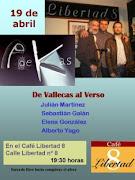 De nuevo, el 19 de abril en el Café Libertad 8