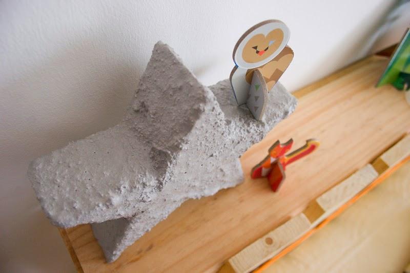 Diy estrella de cemento con espuma floral | DEF Deco - Decorar en familia6