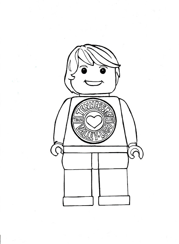 LEGO Coloring Sheet title=