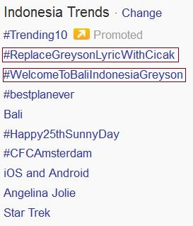 Greyson Chance Bali 2013 Twitter Trend Photos