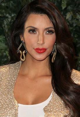 Kim Kardashian Gold Dangle Earrings