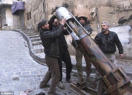 Syrian rebels use of rockets