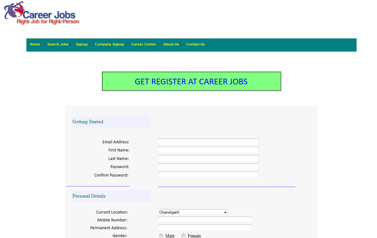 online job portal project in java months training signuop