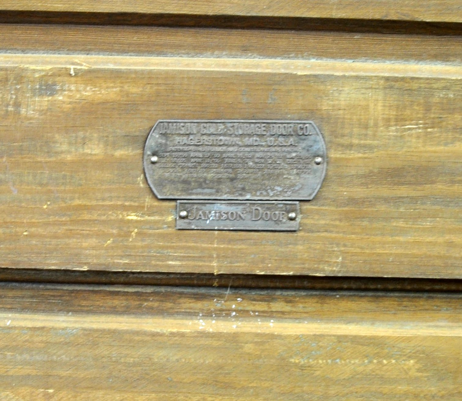 Jamison manufacturer\u0027s label. & Oklahoma Barn Market: Jamison Ice House Door