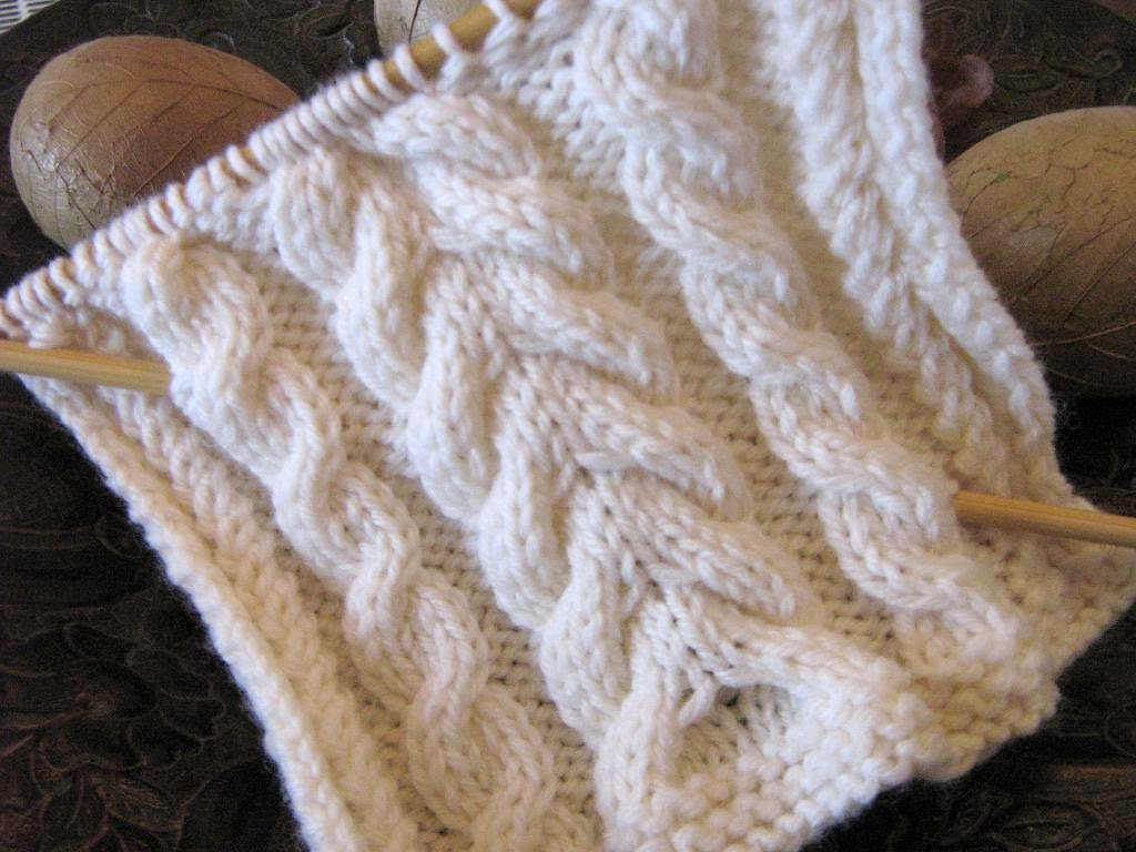 Fine Beginner Cable Knit Scarf Pattern Component - Blanket Knitting ...