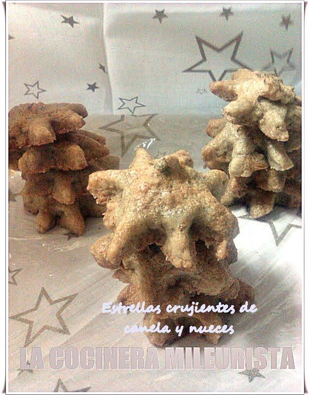 Estrellas crujientes de canela y nueces