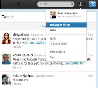 como apagar mensagens do Twitter