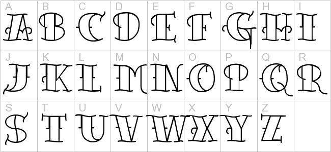 Next Art Gallery Old Tattoo Font