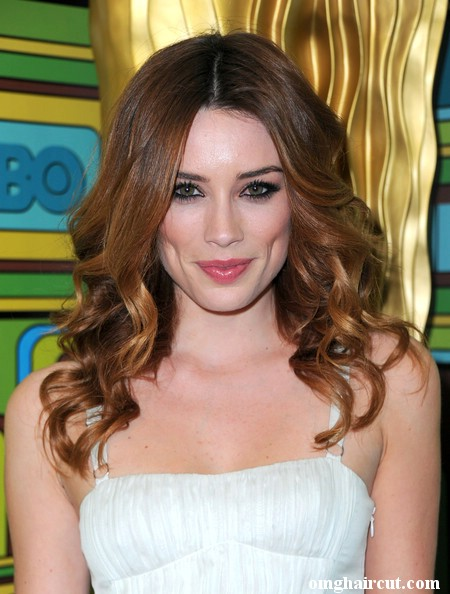 long curls to the side. Arielle Vandenberg Long Curls
