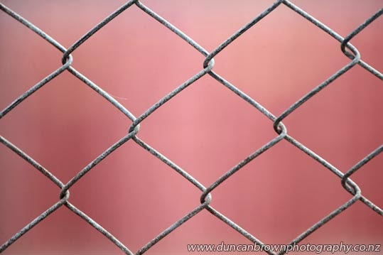 Hurricane fencing - so called because it can withstand hurricane wind force up to category five photograph