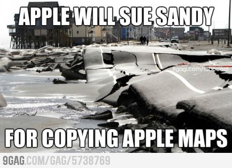 Apple Will Sue Sandy