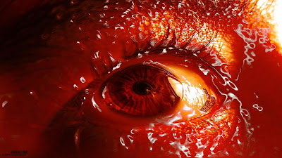 hd scary eyes wallpapers - blood eyes