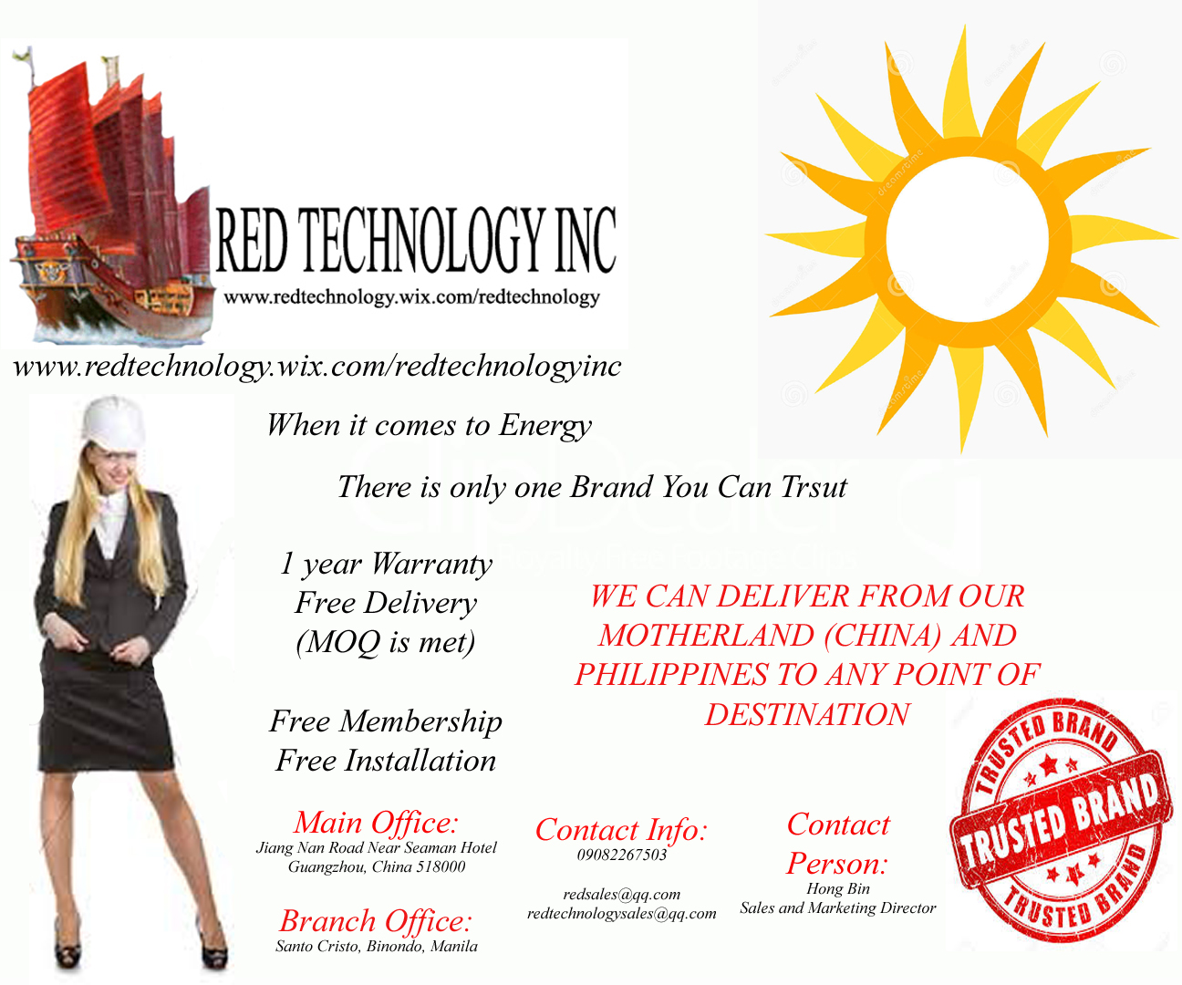 Red Tech the Only Brand you can Trust