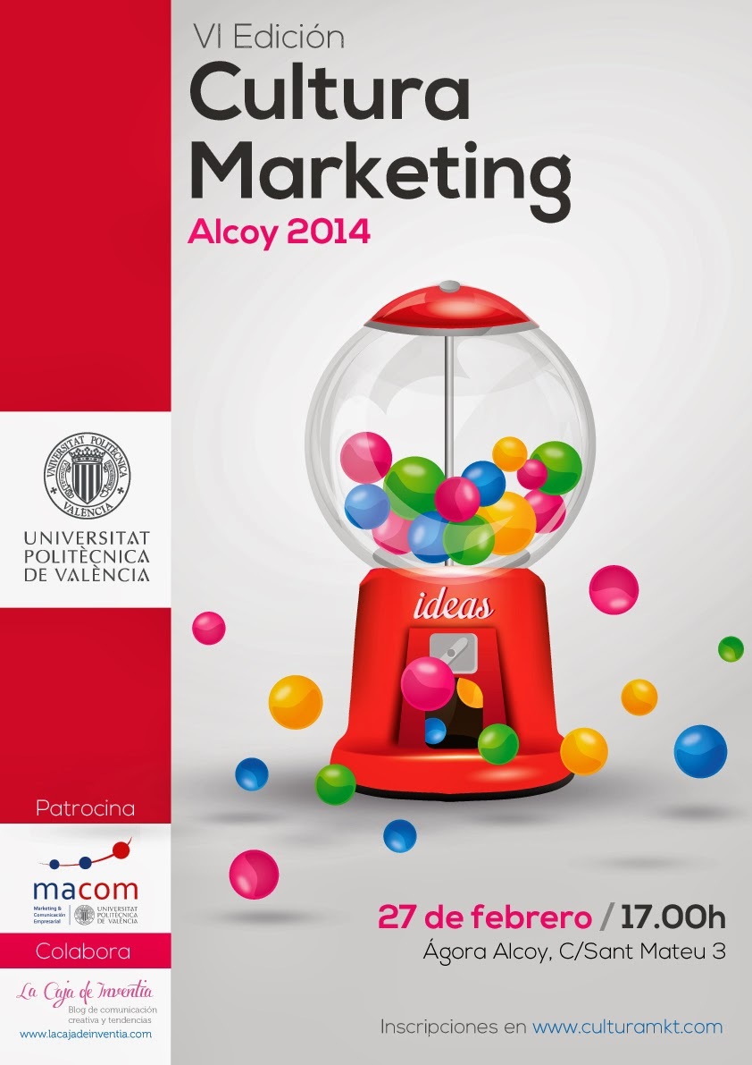 Cartel Sexta Edicion Cultura Marketing Alcoy 2014