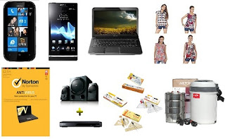 Sony Xperia P LT22i for Rs.16490, Norton Antivirus for Rs.299, Classmate Combo – Assorted Geometry Box Set of 4 for Rs.229 & more