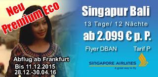 Premium Eco Singapore Airlines