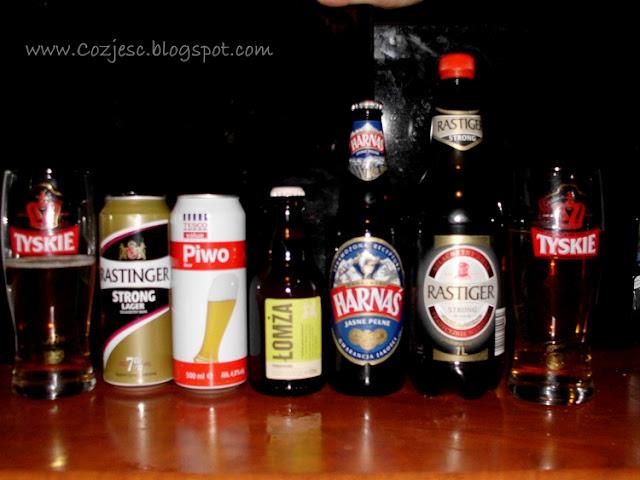 Ranking piw,Rastiger, Łomża, Harnaś, Tyskie, Piwo TESCO