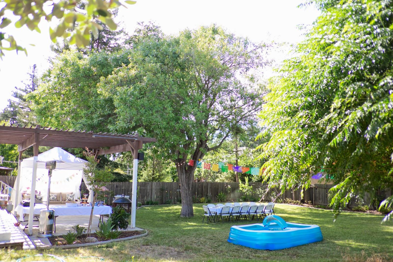 domestic fashionista backyard birthday party and dessert canopy