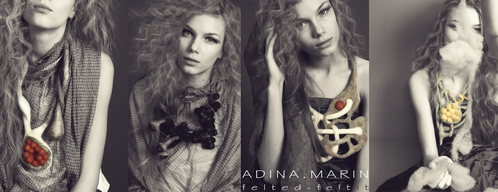 felted wool jewelry by adina marin