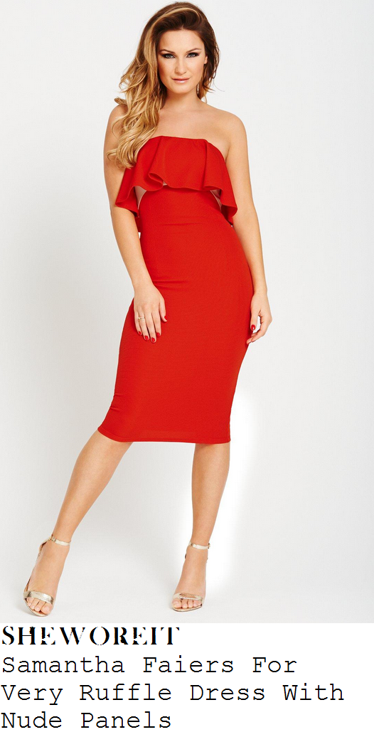 marnie-simpson-red-ruffle-strapless-bandeau-dress-ok-magazine
