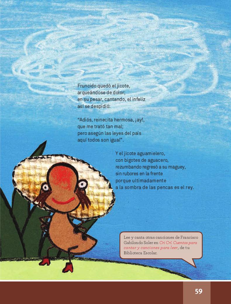El jicote aguamielero - Español Lecturas 4to 2014-2015