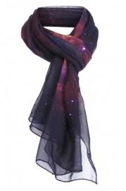 galaxy print scarf