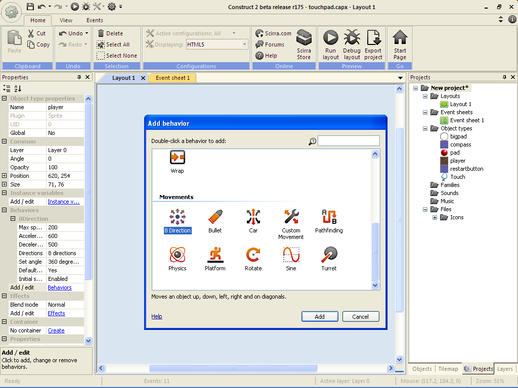 Tutorial construct 2 membuat touchpad kursor arcadesindo games sumber dokumen penerbit baditri Gallery