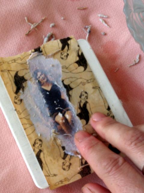 Entint arte transferencia con pegamento reposicionable - Pegamento para decoupage ...