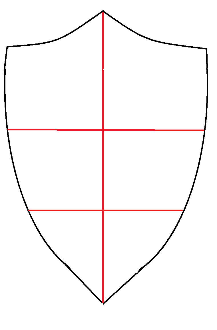 Shield Outline Drawing my Coat of Arms