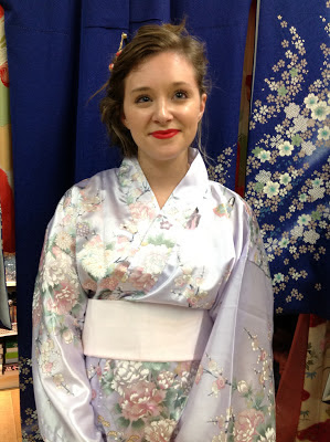 Pretty young lady wearing kimono Kimono House NY