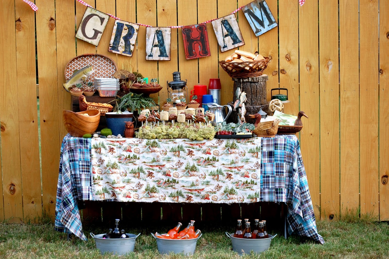 Family Backyard Party Ideas : adore this backyard camping birthday party by Eisele Family Nest