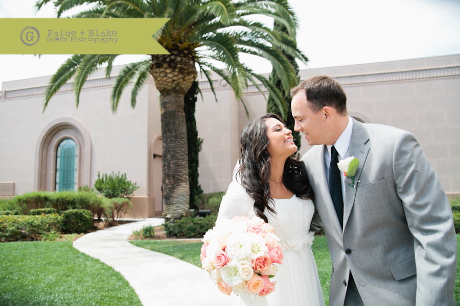 Newport Beach Temple Wedding Exit : Photo by Paige and Blake Green