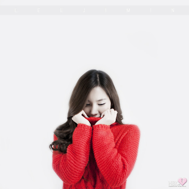 3 Lee Ji Min in Sweet Red-Very cute asian girl - girlcute4u.blogspot.com