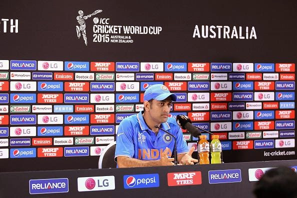 MS Dhoni in Post Press Conference, India vs West Indies, CWC15
