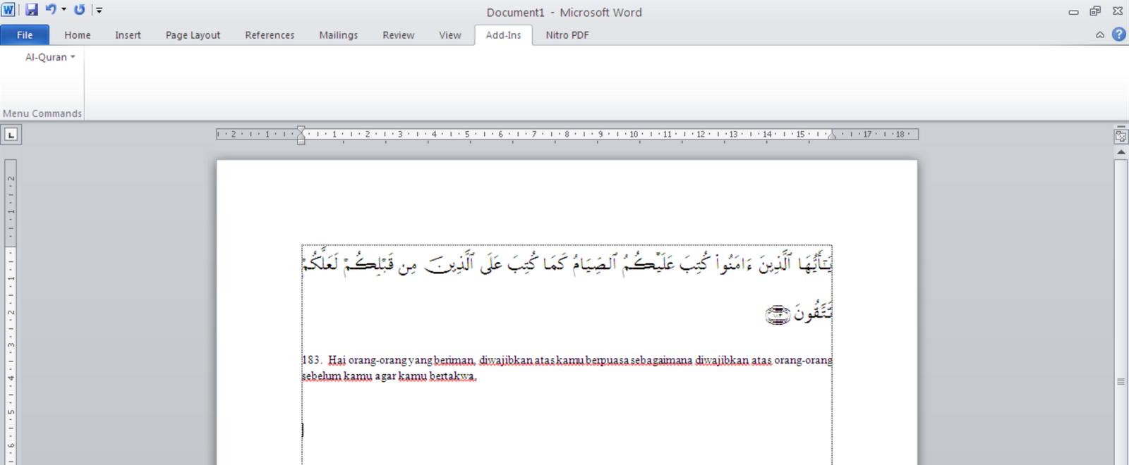free download software al quran in word 2010