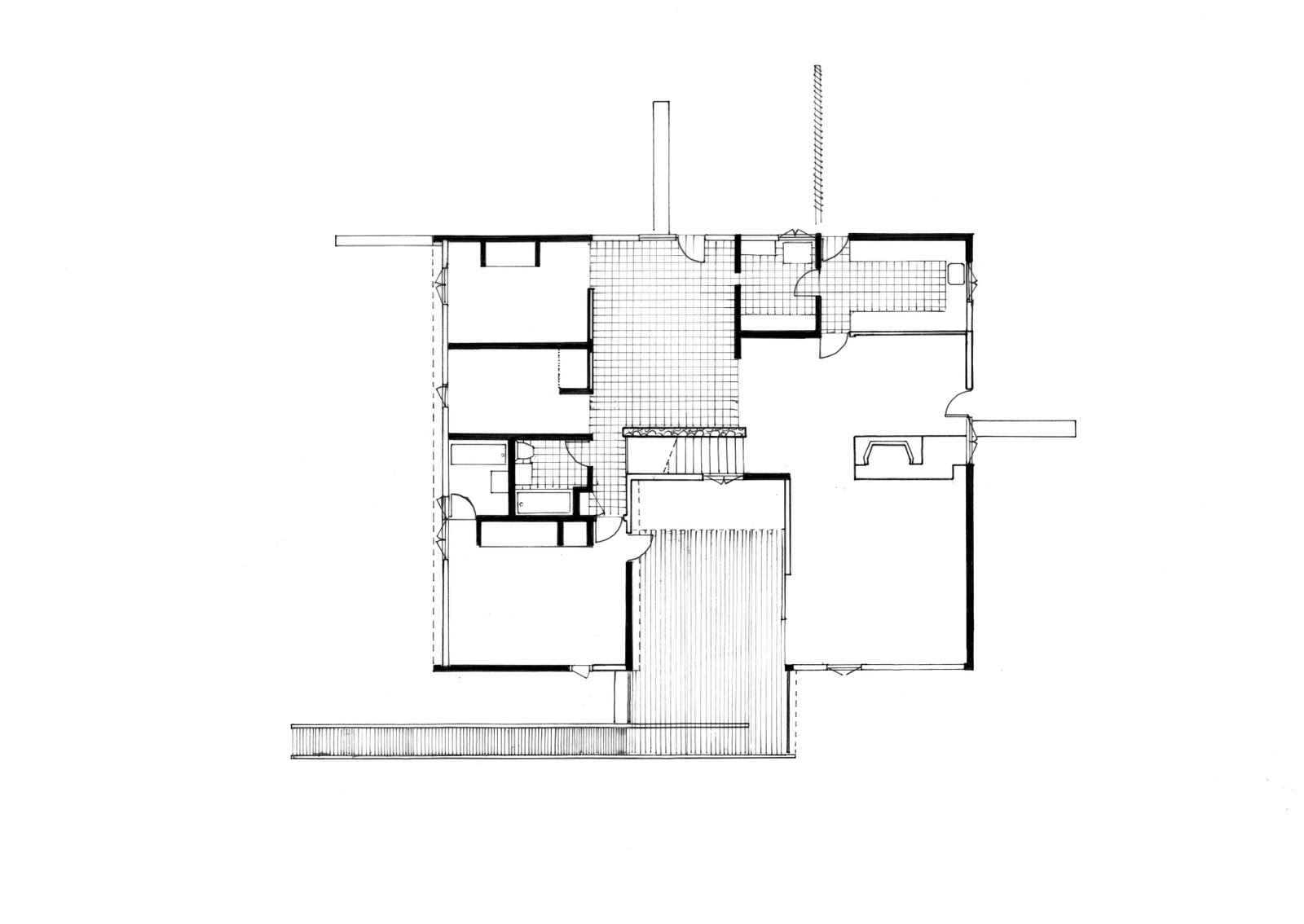 Workshop   Draw it    ARCH Communication   JessI was given Rose Seidler House and traced all the sections  floorplans and elevation plans in   in at least different line weigh including