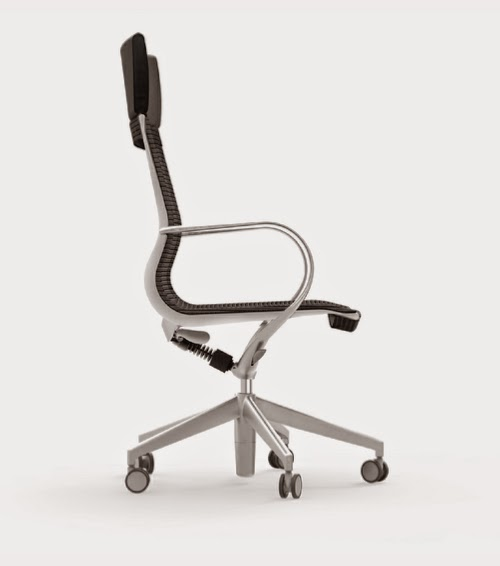Curva High Back Chair - Side View