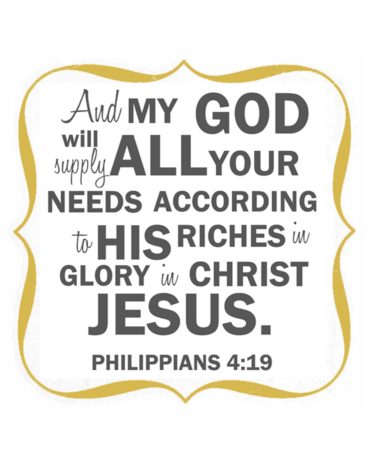 god will provide bible verse