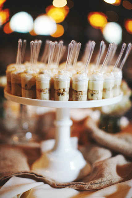 Banana Pudding Dessert Shooters for Wedding Dessert Table