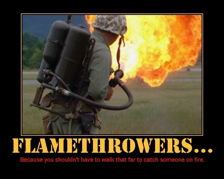 Flame Throwers Are One Mans Most Diabolic Weapon Ideas Feel
