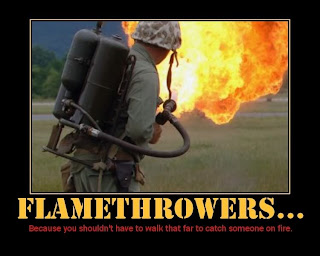 funny weapons fail picture flame thrower war