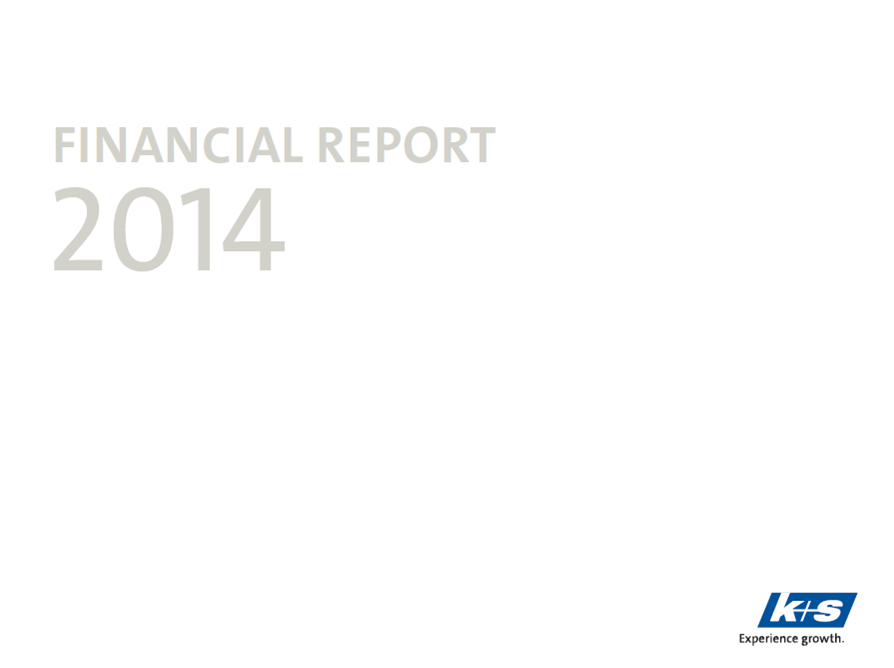 K+S, annual report, 2014, front page