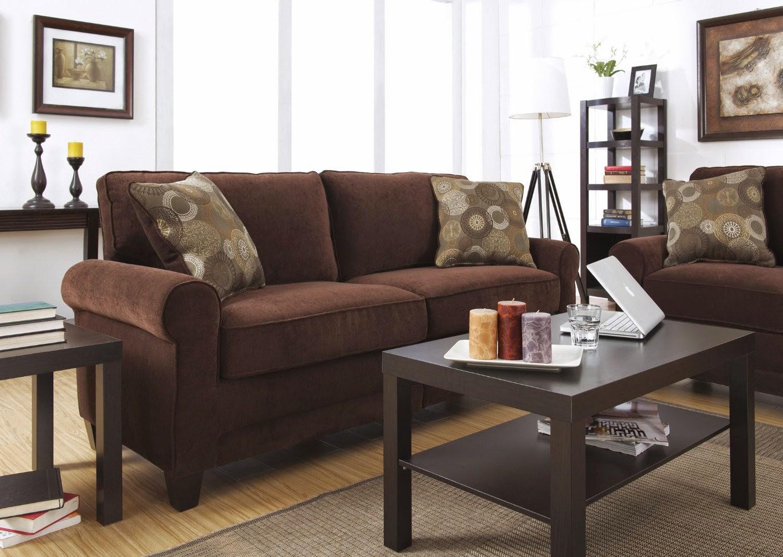 Serta CR-43537PB Trinidad Collection 73inch Sofa, Chocolate Fabric