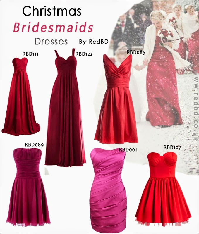Holiday Bridesmaids Dresses From RedBD