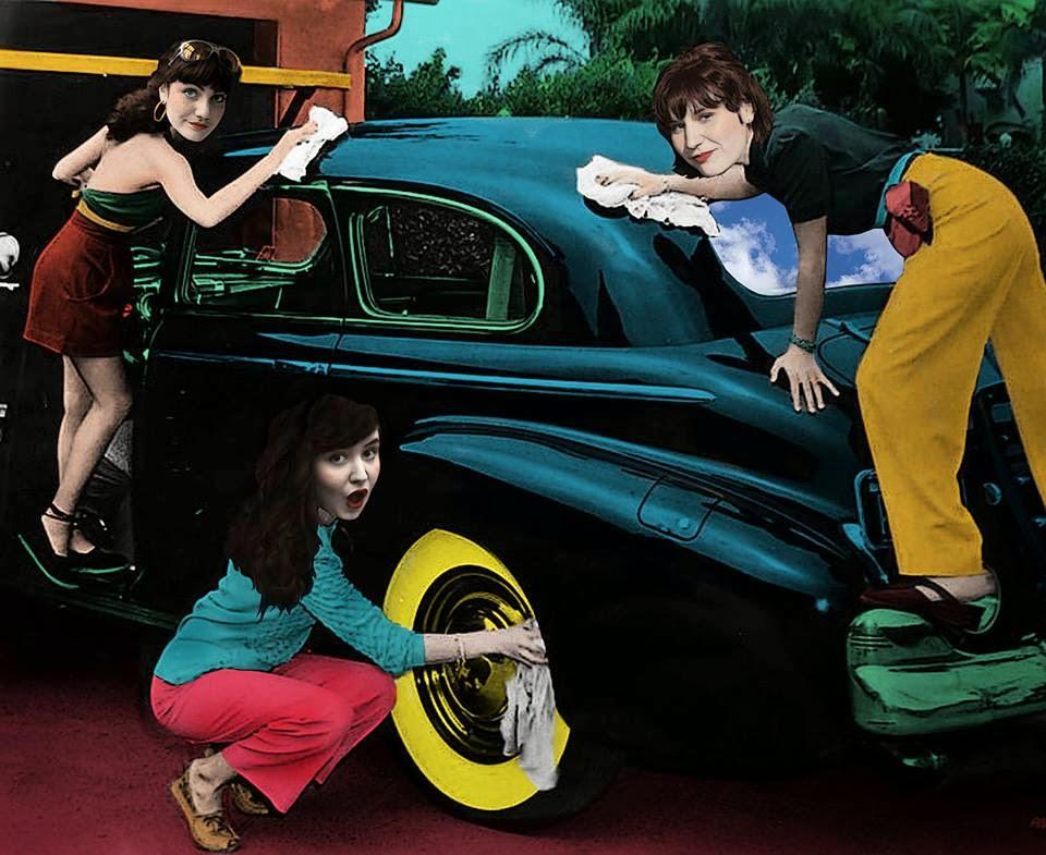 trois femmes en panne