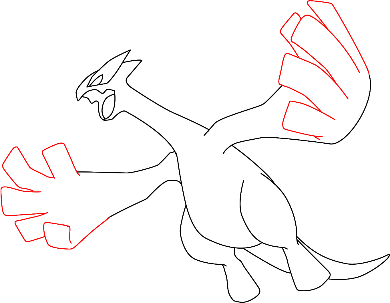 Pokemon coloring pages lugia