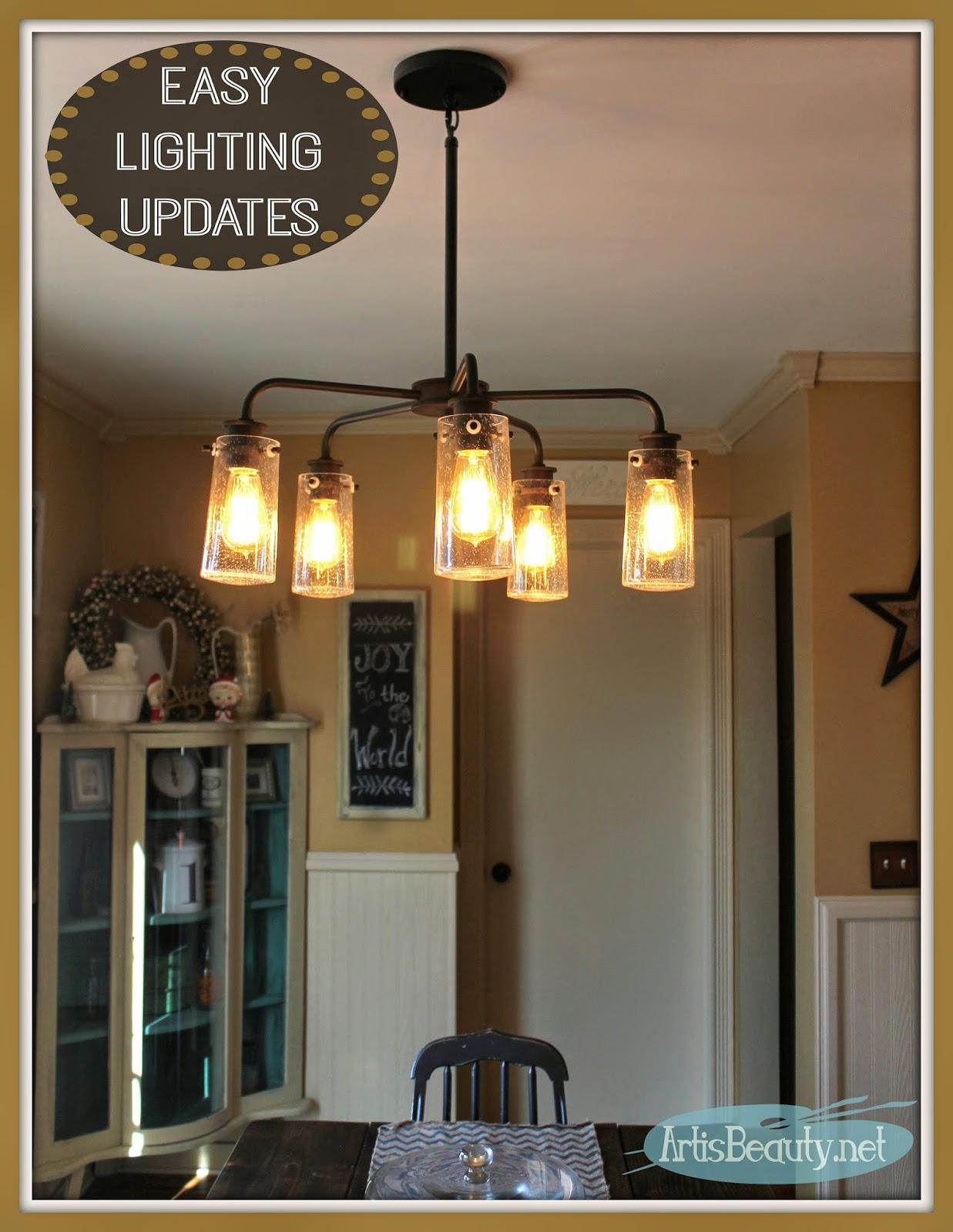 ART IS BEAUTY Vintage Style Kitchen Lighting Update Buh Bye Boob