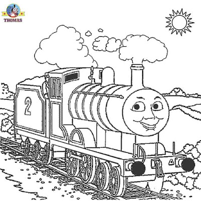 Kids art free online printable pictures Thomas and friends Edward the train coloring pages for kids