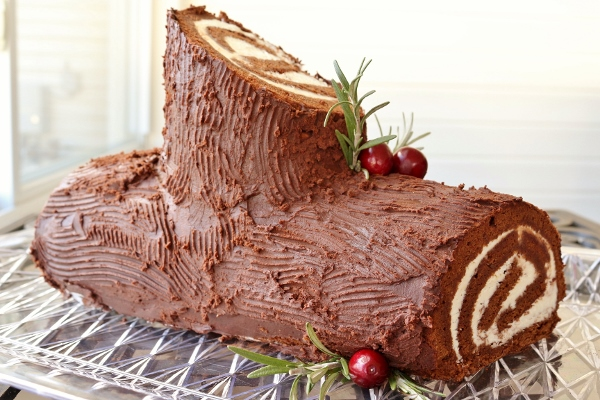 Disney Yule Log Cake