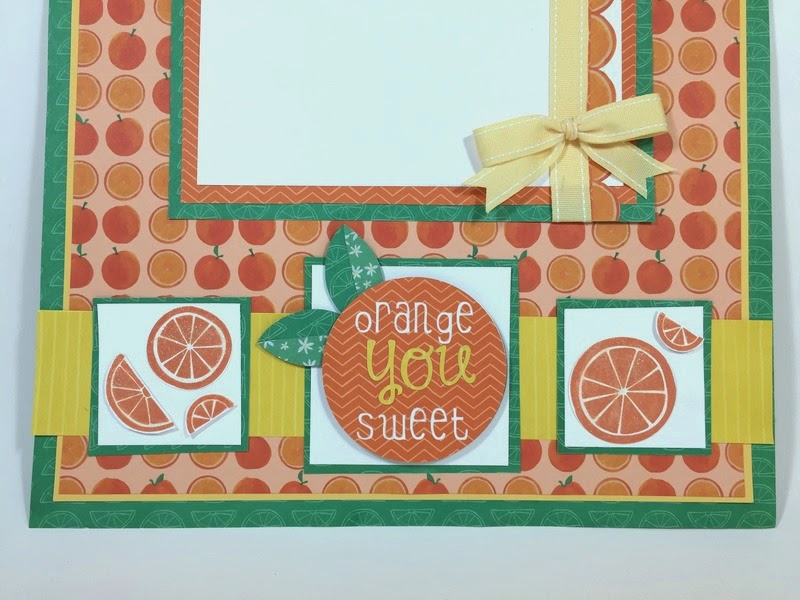Cricut Orange You Sweet Scrapbook layout